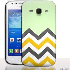 Coque de portable Samsung Ace 3 Menthol - accessoire a clipper. #Coque #Samsung #galaxy #Ace #3 #Case #Cover #telephone #portable #chevrons #menthe #mint