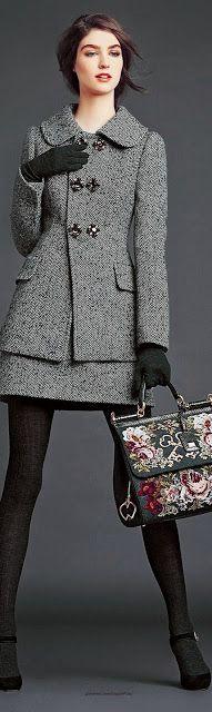 Just a pretty style   Latest fashion trends: Fashion style Dolce & Gabbana F/ W 2014-15