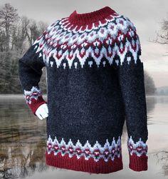 Ravelry: Ragnalla Lopapeysa pattern by Gabi Renggli Double Knitting Patterns, Fair Isle Knitting Patterns, Sweater Knitting Patterns, Knit Patterns, Free Knitting, Norwegian Knitting, Icelandic Sweaters, Sweater Design, Clothes Refashion