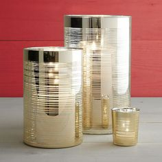 Fizz Hurricanes and Candle Holder  | Crate and Barrel