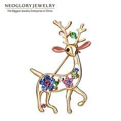 Neoglory Auden Strass Smalto Animale di Modo di Disegno Spille Per Le Donne In Oro Placcato Gioielli Accessori 2016 Nuovo di Zecca BR1 W1