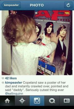 AWWW JUST ANOTHER REASON I LOVE COPELAND!!!! Band Quotes, Band Memes, Copeland Quinn, Emo Bands, Music Bands, Rock Bands, Kellin Quinn, Sleeping With Sirens, Blink 182
