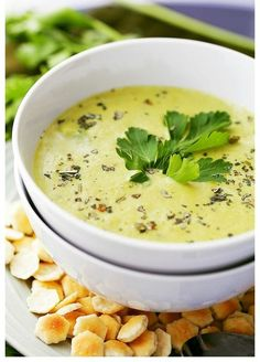 Creamy Roasted Garlic And Asparagus Soup  … It's amazing what you can blend up in the kitchen! Here is a creamy roasted Garlic And Asparagus Soup recipe that I…