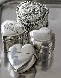 antique silver ring boxes