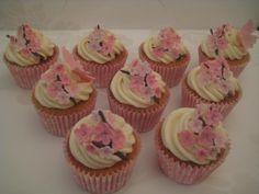 cakes using cherry blossom decorations | Cherry Blossom cupcakes - by Dottie @ CakesDecor.com - cake decorating ...