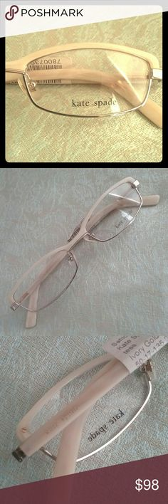 Kate Spade Tess Ivory Horn Rx Eyeglasses Frames New! In great condition. Very lightweight and comfortable. Kate Spade Accessories Glasses