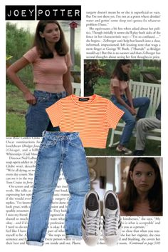 Joey Potter - Outfit Inspiration - Season 1 by vilena-ferreira on Polyvore featuring moda and adidas Originals
