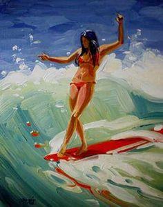 Pop Art Drawing, Painting & Drawing, Surf Art, Mermaid Art, Ocean Art, Beach Art, Figurative Art, Cool Artwork, Photo Art