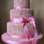 23 Fun And Colorful Sprinkle Wedding Cakes Pretty Cakes, Cute Cakes, Beautiful Cakes, Amazing Cakes, Unique Cakes, Creative Cakes, Sprinkle Wedding Cakes, Baby Sprinkle, Cake Cover