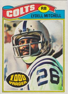 Lyell Mitchell 1977 Topps Football Card