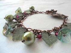 'Woodland Delight' A handmade bracelet by Wild Rose Designs.   SOLD
