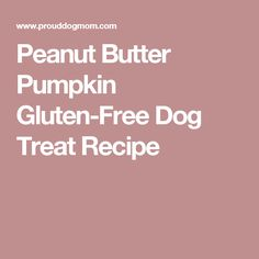 Peanut Butter Pumpkin Gluten-Free Dog Treat Recipe