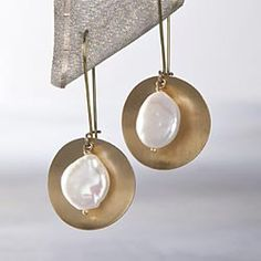 Lianes-Brass-Pearl-Earrings