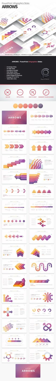 ARROWS - PowerPoint Infographics Slides Template - 35 Total Slides