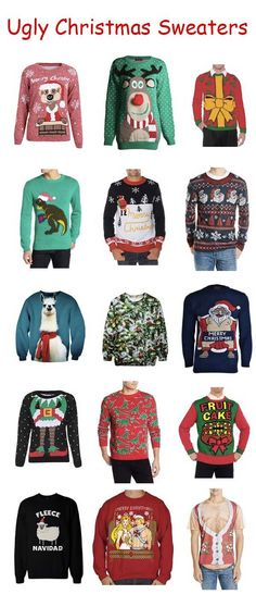A huge assortment of ugly Christmas sweaters! http://rstyle.me/n/uspudnyg6