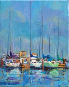Boats Sitting Pretty Art Print by Elizabeth Blaylock. All prints are professionally printed, packaged, and shipped within 3 - 4 business days. Choose from multiple sizes and hundreds of frame and mat options. Street Art, Sailboat Painting, Boat Art, Nautical Art, Pretty Art, Painting Inspiration, Strand, All Art, Les Oeuvres