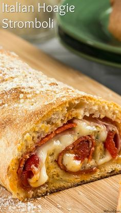 Make our Italian Hoagie Stromboli! It all starts with one of our go-to shortcuts, refrigerated pizza crust! Sandwich Recipes, Pizza Recipes, Beef Recipes, Dinner Recipes, Cooking Recipes, Italian Dishes, Italian Recipes, Empanadas, Garbage Bread