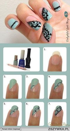 lace nails tutorial