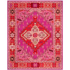 Safavieh Kendra Pink Area Rug Red/pink 8 X 5 (68.440 HUF) ❤ liked on Polyvore featuring home, rugs, textured rugs, bright red area rug, red rug, pink area rug and safavieh area rugs