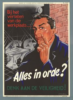 Dutch Health And Safety Posters 1926-1992 - Flashbak