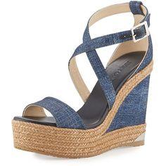 5024a39835b4 Shop Portia Denim Platform Wedge Sandal