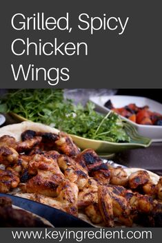 Discover our recipe rated by 2 members. Grilled Chicken Wings, Grilled Chicken Recipes, Chicken Wing Recipes, Grilled Vegetables, Original Recipe, Grilling Recipes, Good Food, Stuffed Peppers, Dinner Options