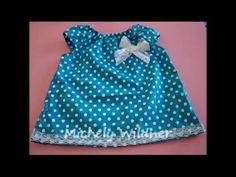 Nesse vídeo mostro como fazer um vestidinho para bebê com molde de 3 meses a 4…