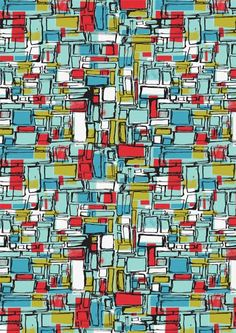 Abstract squares 1950s inspired - Ryan Deighton Design