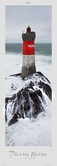 Le phare des Pierres Noires - Finistère - Morbihan  by Phillip Plisson