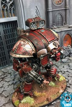 I like this Knight Titan, also from GMM studios.