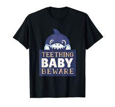 Amazon.com: Baby Biter Tshirt for Teehthing Baby: Clothing   #babyshark #teething #teethingbaby #tshirt #tshirtdesign #kidsfashion Funny Graphic Tees, Parenting Humor, Baby Shark, Teething, Branded T Shirts, Funny Tshirts, Fashion Brands, Amazon, Mens Tops
