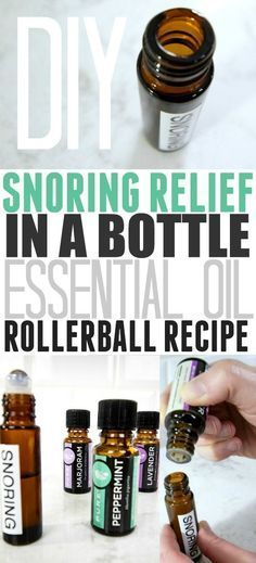 How to help relieve snoring using essentials oils!