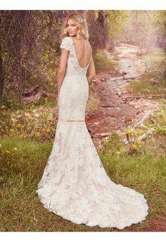 Meerjungfrau Wunderschöne Modische Brautkleider aus Spitze mit Schleppe