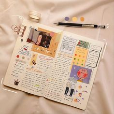 Find images and videos about journal, bullet journal and stationery on We Heart It - the app to get lost in what you love. Bullet Journal Aesthetic, Bullet Journal Notebook, Bullet Journal Ideas Pages, Bullet Journal Spread, Bullet Journal Layout, My Journal, Bullet Journal Inspiration, Art Journal Pages, Cute Journals