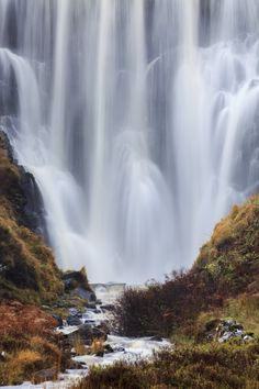 Chashnessie Waterfall, Scotland Close Up by Andrew Ray