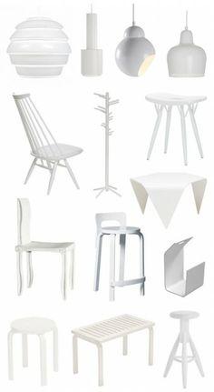 White scandinavian design by Artek, Finland