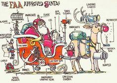 FAA-approved Santa
