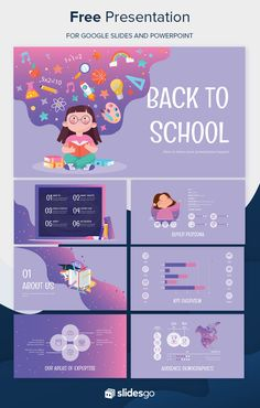 design Back to School Social Media Presentation Design Powerpoint Templates, Powerpoint Background Design, Professional Powerpoint Templates, Powerpoint Template Free, Powerpoint Themes, Creative Powerpoint, Booklet Design, Brochure Design, Flyer Template