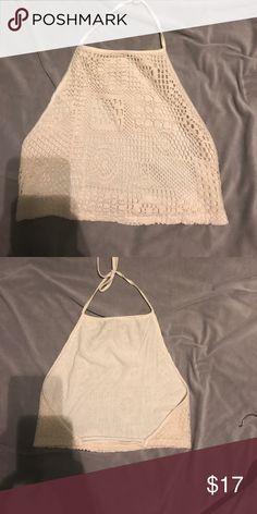 Crochet crop top ! Never worn from cute boutique in la Tops Crop Tops
