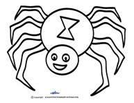 Spider Pattern For Kids To Color Coolest Scooby Doo Birthday Party Ideas Template