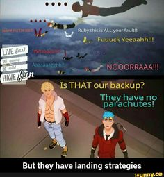"""""""They're going to do a superhero landing! Looks so cool, but bad for your knees."""""""