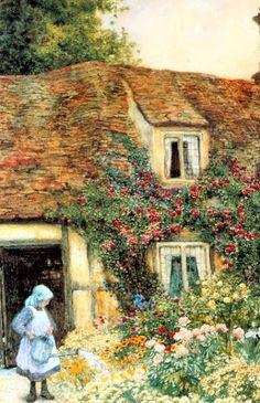 Arthur Claude Strachan.  El pequeño jardinero.  Pintura