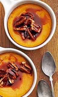 You've probably had spoon bread as a side, but we added a rich caramel topping to this sweet potato version make it a little more dessert-appropriate.
