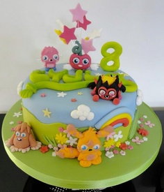 Moshi Monsters birthday cake. NOT FAIR WISH IT WAS MY CAKE!!!!!!! Lol