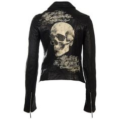 Jaded by Knight painted skull leather jacket Skull Fashion, Dark Fashion, Gothic Fashion, Latex Fashion, Steampunk Fashion, Emo Fashion, Rock Style, Style Me, Rock Chic