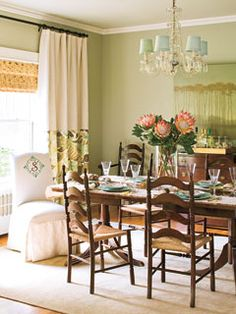 My dining room inspiration - although mine turned out less girly unfortunately.