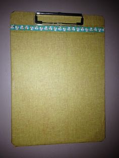 Clipboard covered with Surfs Up paper from CTMH