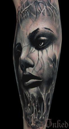 Black and grey piece by Kamil Tattoos #InkedMagazine
