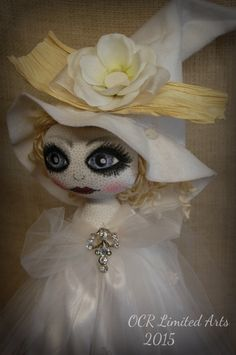 RESERVED Icelynn  Ooak collectible Art Witch Doll RESERVED by OCRLimitedArts on Etsy
