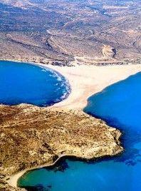 prasonissi, rhodos, greece - where the two seas meet